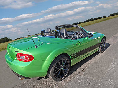 Photograph - Mazda Mx-5 Top Down Rear by Gill Billington