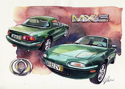 Mazda Mx5 Art Print by Yoshiharu Miyakawa