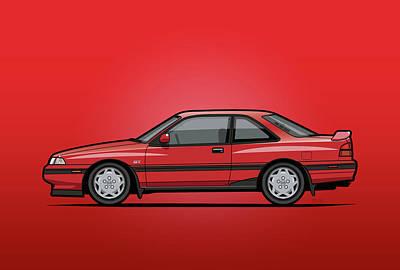 Mazda Mx6 Gt Red Original