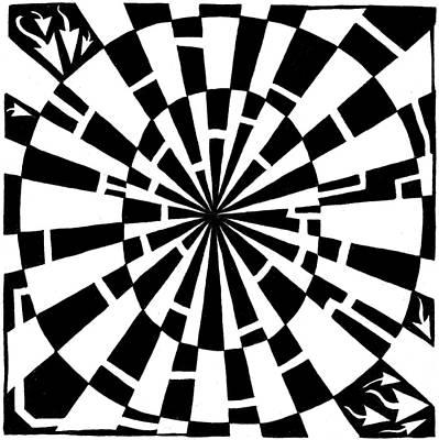 Alphabet Mazes Drawing - Maze-bama by Yonatan Frimer Maze Artist