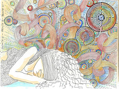 Drawing - Maze Of Dreams 2 by C H Apperson