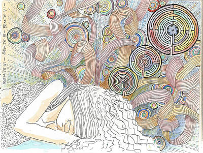 Drawing - Maze Of Dreams by C H Apperson