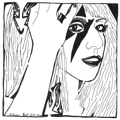 Maze Of Lady Gaga Art Print by Yonatan Frimer Maze Artist