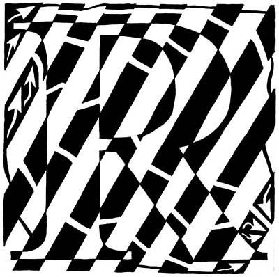 Maze Of The Letter R Art Print by Yonatan Frimer Maze Artist