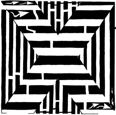 Maze Of The Letter X Original by Yonatan Frimer Maze Artist