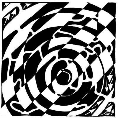 Maze Of The Number Six Art Print by Yonatan Frimer Maze Artist