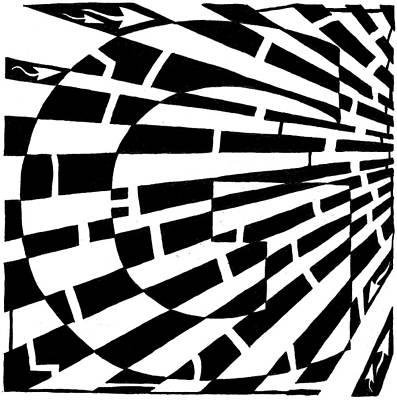 Maze Of Uppercase G Art Print by Yonatan Frimer Maze Artist