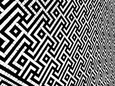 Photograph - Maze Print by Rebecca Harman