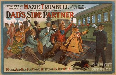 Painting - Mazie Trumbull And Her Fun Crowd Dads Side Partner Vintage Entertainment Poster 1908 by R Muirhead Art