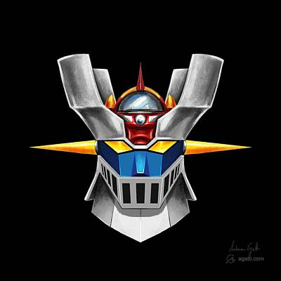 Science Fiction Royalty-Free and Rights-Managed Images - Mazinger Z by Andrea Gatti