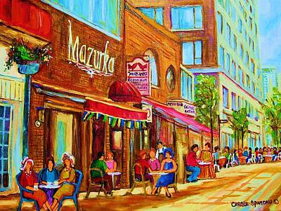 Mazurka Cafe Art Print by Carole Spandau