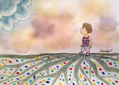 Creativity Drawing - Mazy Roads  by Jo lan Tao