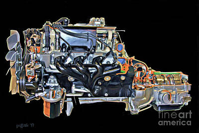 Photograph - Mb 6.9 Liter Engine by Tom Griffithe