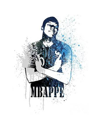 Sergio Ramos Wall Art - Painting - Mbappe #dark Blue #world Cup 2018 #france by Art Popop