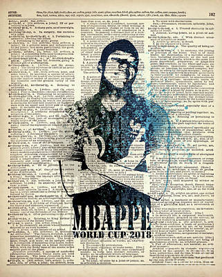 Sergio Ramos Wall Art - Painting - Mbappe On Dictionary #world Cup 2018 #france by Art Popop
