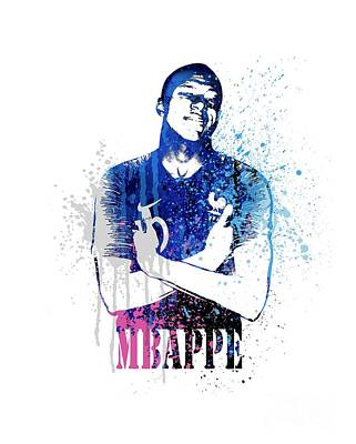 Sergio Ramos Wall Art - Painting - Mbappe  #world Cup 2018 #france by Art Popop