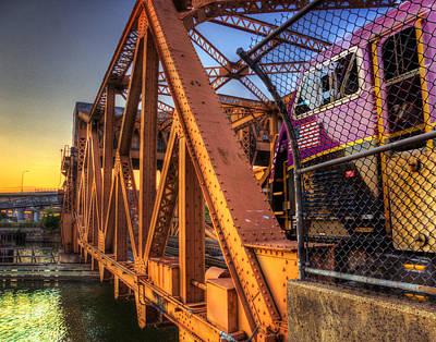 Photograph - Mbta Bascule Bridge 008 by Jeff Stallard