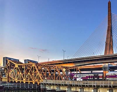 Photograph - Mbta Bascule Bridge 009 by Jeff Stallard