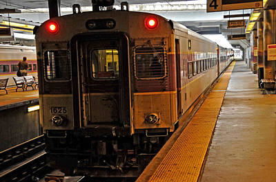 Photograph - Mbta Track 4 North Station Boston by Mike Martin