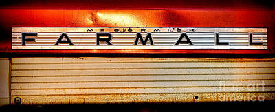 Photograph - Mc Cormick Farmall Antique Nameplate by Olivier Le Queinec