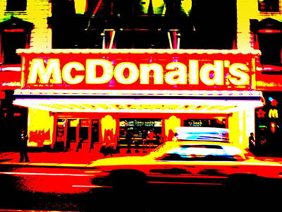 Funkpix Digital Art - Mc Donalds On Broadway  by Funkpix Photo Hunter