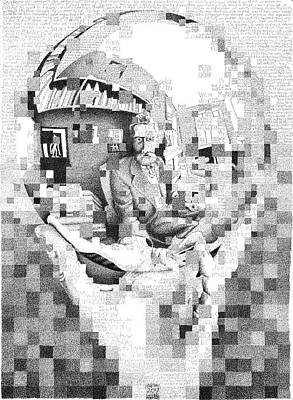 Esher Drawing - Mc Escher In His Own Words by Phil Vance