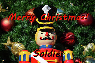 Photograph - Custom Soldier Christmas Card by David Lee Thompson