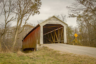 Photograph - Mcallister Covered Bridge by Jack R Perry