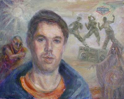Painting - Mca Is My Ace - Adam Yauch Tribute Painting by Quin Sweetman