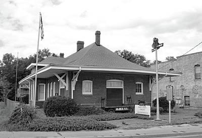 Photograph - Mcbee Depot 10 B W 1 by Joseph C Hinson Photography