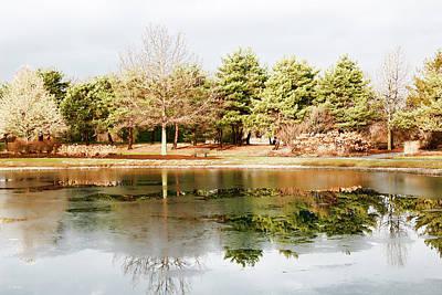 Photograph - Mcbride Arboretum - Winter Reflection by Shawna Rowe