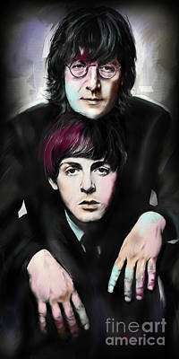 Starr Painting - Mccartney And Lennon by Melanie D