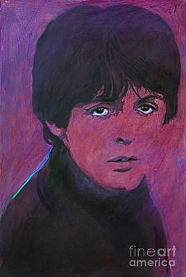 Music Legends Painting - Mccartney by David Lloyd Glover