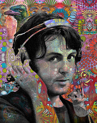 Koala Wall Art - Painting - Mccartney With Animals by Dean Russo Art