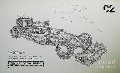 Racecar Drawing - Mcclaren F1 Graphic Score by Philip Sheppard
