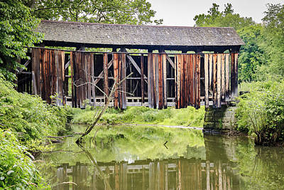 Music Royalty-Free and Rights-Managed Images - McClellan Covered Bridge  by Jack R Perry
