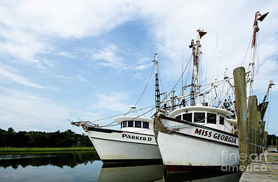 Shrimp Boat Photograph - Mc Clellanville Shrimpers by DiFigiano Photography