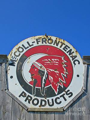 Window Signs Mixed Media - Mccoll Frontenac Sign by John Malone