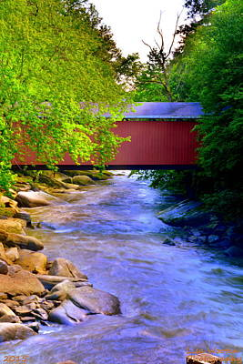 Photograph - Mcconnells Mill Covered Bridge by Lisa Wooten