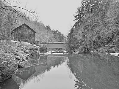 Photograph - Mcconnells Mill In Late March by Digital Photographic Arts