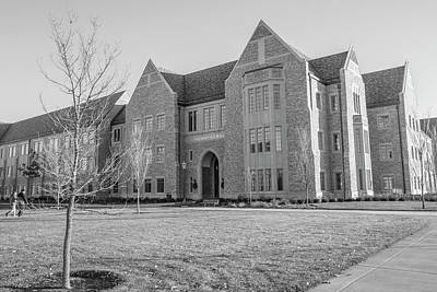 Photograph - Mccourtney Hall Black And White  by John McGraw