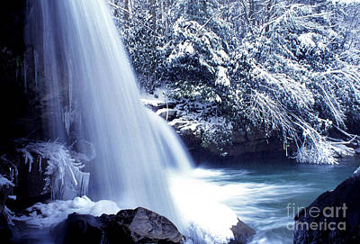 Mccoy Falls In January Art Print