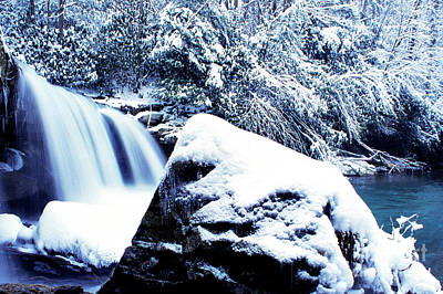 Mccoy Falls With Snow Art Print