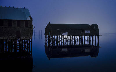 Photograph - Mccurdys Pickling Shed Silhouetted by Marty Saccone