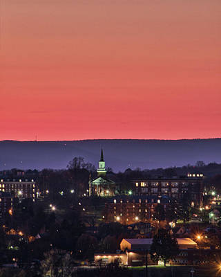 Art Print featuring the photograph Mcdaniel At Sunset by Mark Dodd