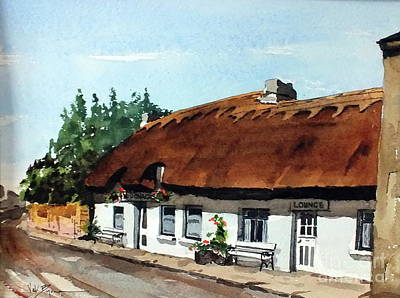 Painting - F  709 Mc Donaghs Of Oranmore, Galway by Val Byrne