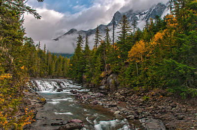 Photograph - Mcdonald Creek  Glacier National Park by Brenda Jacobs