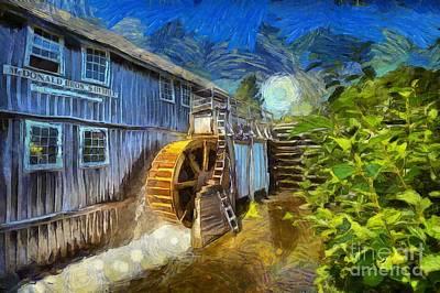 Digital Art - Mcdonald Brothers' Sawmill by Eva Lechner