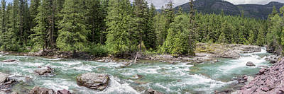 Photograph - Mcdonald Creek Panorama 8142 by Teresa Wilson