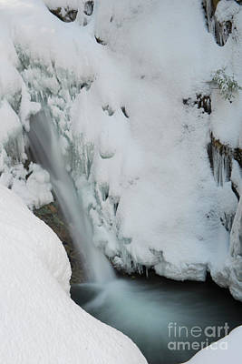 Photograph - Mcdonald Falls Frozen by Rod Wiens